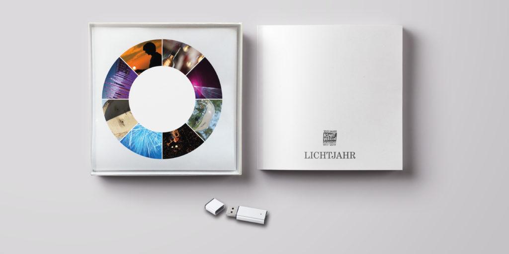 LICHTKUNST-BOX: Box, Buch und Stick mit Bildern und Texten zum LICHTJAHR 2017