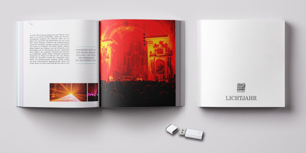 LICHTKUNST-BUCH mit Bildern von Christof Sonderegger und Texten zum LICHTJAHR 2017